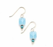 Turquoise & Blue Quartz Beaded Drop Earrings