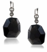 ABS Allen Schwartz Black Diamond Organic Stone Drop Earrings