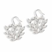 Marquise Multi CZ Open Heart Earrings