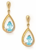 Blue Topaz Vermeil Teardrop Earrings