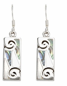Abalone Inlay Drop Earrings by Indigo