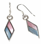 Marquise Mother of Pearl Inlay Drop Earrings