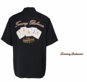 Black Caribbean Stud Signature  Silk Camp Shirt by Tommy Bahama
