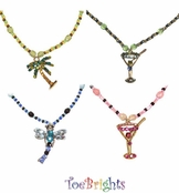 Crystal Beaded Necklace by Toe Brights