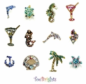 Tropical & Sea Life Crystal Toe Ring by Toe Brights