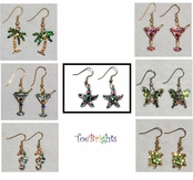 Crystal Earrings by Toe Brights