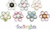 Crystal Flower Toe Ring by Toe Brights