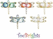 Dragonfly Crystal Toe Rings by Toe Brights
