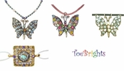 Crystal Butterfly Suede Choker by Toe Brights