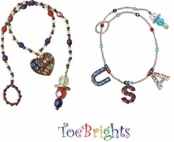Patriotic Ankle Bracelet by Toe Brights