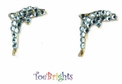 Aqua Dolphin Crystal Earrings by Toe Brights