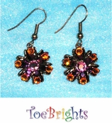 Crystal Hibiscus Earrings by Toe Brights