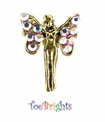 Tinkerbell Crystal Illusion Band Toe Ring by Toe Brights