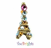 Eiffel Tower Crystal Illusion Band Toe Ring by Toe Brights