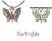 Crystal Multi Butterfly Necklace by Toe Brights