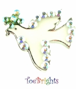 Dove Crystal Toe Ring by Toe Brights