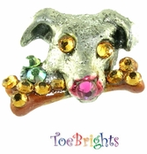 Dog 'n Bone Crystal Toe Ring by Toe Brights