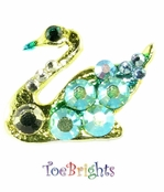 Swan Crystal Toe Ring by Toe Brights