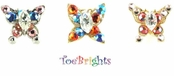 Crystal Multi Marquise Butterfly Toe Ring by Toe Brights