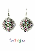 Blossom Filigree Crystal Earrings by Toe Brights