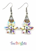 Startower Crystal AB Earrings by Toe Brights