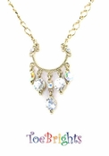 Crystal AB Chandelier Drops Necklace by Toe Brights