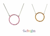 Crystal Circle Necklace by Toe Brights