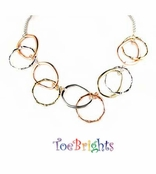 Tri-Color Circles Necklace by Toe Brights