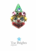 Karl The Clown Crystal Illusion Band Toe Ring By Toe Brights