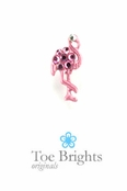 Pink Crystal Flamingo Illusion Band Toe Ring by Toe Brights