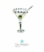 Crystal Martini Illusion Band Toe Ring by Toe Brights