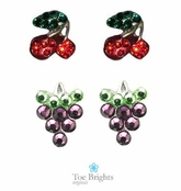 Crystal Fruit Earrings by Toe Brights