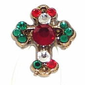 Swarovski Crystal Chrismtas Cross Illusion Band Toe Ring by Toe Brights