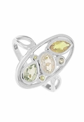 Multi Gemstone Ring by Boma