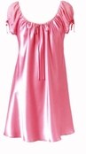 Soft & Breezy Pink Satin Sleep Shirt by Oscar de la Renta