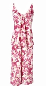 Brushed Floral Satin Capri PJ Set by Oscar de la Renta