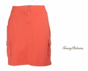 Bright Coral Alani Terry Cargo Skirt by Tommy Bahama