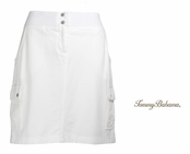 White Alani Terry Cargo Skirt by Tommy Bahama