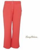 Bright Coral Alani Terry Zip Crop Pants by Tommy Bahama