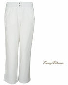 White Alani Terry Zip Crop Pants by Tommy Bahama