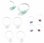 Beaded Gemstone Cluster Hoop Earrings