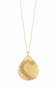 Henna Gold Tear Necklace by Baroni
