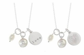 Henna Heart Pearl Charms Reversible Necklace by Baroni