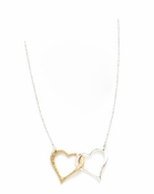Sterling Silver & Gold Plated Interlocking Hearts Necklace
