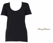 Black Indio Tee Scoop Neck T Shirt by Tommy Bahama