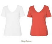 Cotton Retreat V-Neck Tee by Tommy Bahama