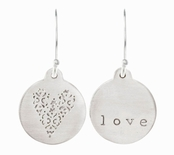 Henna Heart Love Earrings by Baroni