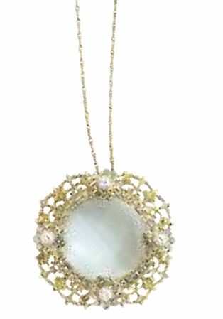 The Floral Radiance  Collection Crystal & Pearl Magnifier Glass Necklace by Spring Street