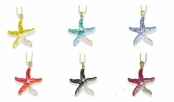 Swarovski Crystal Gradient Starfish Pendant Necklace