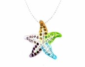 Swarovski Crystal Multi Starfish Pendant Necklace